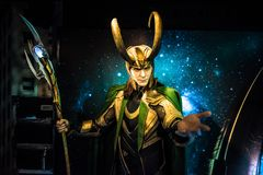 Loki, sculpture en cire, Madame Tussaud photos libres de droits