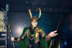 Loki, statue de cire, Amsterdam de Madame Tussaud's photos libres de droits