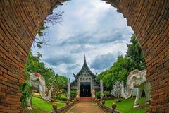 Lokmolee寺庙在清迈 库存图片