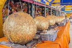 Loknimit (golden sphere) Sacred marker spheres. Stock Photos