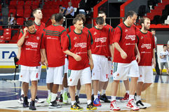 Lokomotiv basketball team Stock Images