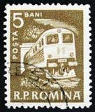 Lokomotiv circa 1960 Arkivbild