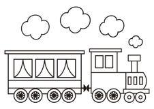 Lokomotiv färgläggningbok vektor illustrationer
