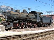 Lokomotiv för ångamotor Arkivbild