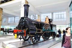 Lokomotiv för ångamotor Royaltyfri Foto