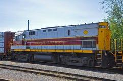 Lokomotiv för Lackawanna järnvägdiesel, Scranton, PA, USA royaltyfria bilder