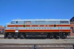Lokomotiv för Lackawanna järnvägdiesel, Scranton, PA, USA royaltyfri foto