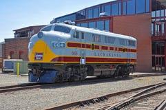 Lokomotiv för Lackawanna järnvägdiesel, Scranton, PA, USA royaltyfri bild