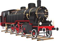 Lokomotiv för tio rullad frakter royaltyfri illustrationer