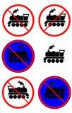 lokomotiv förbjuda tecknet royaltyfri illustrationer