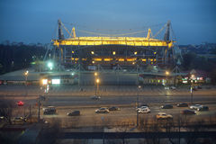 Lokomotiv football stadium at night Royalty Free Stock Photos