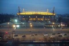 Lokomotiv football stadium at night Royalty Free Stock Photos