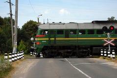 lokomotiv gammala järnväg ukraine Arkivfoto