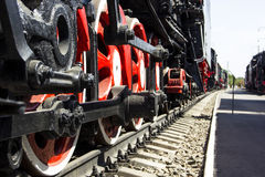 Lokomotiv i museum av historia järnväg norr Kaukasus Royaltyfria Bilder