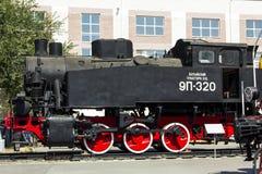 Lokomotiv 9P-320 i museum av historia järnväg norr Kaukasus Royaltyfri Bild