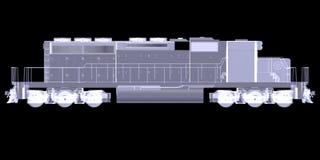 Lokomotiv. Röntgenstråle vektor illustrationer