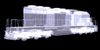 Lokomotiv. Röntgenstråle stock illustrationer