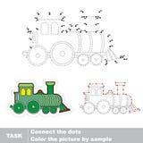lokomotiv Vektornummerlek stock illustrationer