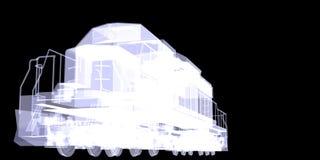Lokomotiv. X-ray Royalty Free Stock Photography