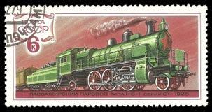 Lokomotive in der Bewegung Stockbild