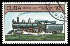 Lokomotive in der Bewegung Stockfotos