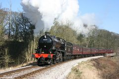 Lokomotive des Dampfs K1 Nr. 62005 an Mytholmes, an Keighley und an der Würze Stockbilder