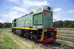 Lokomotive geparkt Stockfotos