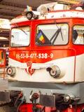 Lokomotive hergestellt in Rumänien Stockbilder