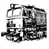 Lokomotive-Maschine Lizenzfreies Stockbild