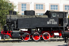 Lokomotive 9P-320 im Museum der Geschichte Bahn- Nord-Kaukasus Lizenzfreies Stockbild