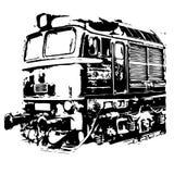Lokomotivemotor royalty-vrije stock afbeelding