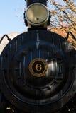 Lokomotivet av den amerikanska producenten Baldwin Locomotive Works ställde ut nära den Skagit informationsmitten, Newhalem royaltyfri fotografi