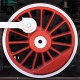 lokomotoryczny czerwony koło Obrazy Royalty Free