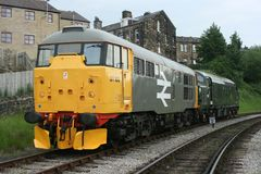 A1A lokomotyw klasa 31 31108 na Keighley i Warty dolinę Obraz Royalty Free