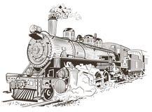 Lokomotywa, stary pociąg Fotografia Royalty Free