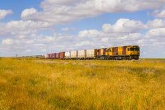 lokomotywy dieslowski odludzie Queensland obrazy stock