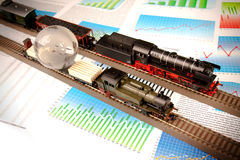 lokomotywy odtransportowywają świat zdjęcie stock