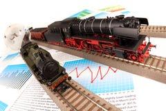 lokomotywy odtransportowywają świat fotografia royalty free