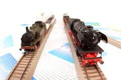 lokomotywy odtransportowywają świat obraz royalty free