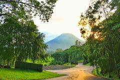 Lokon mountain. In tomohon city stock photo