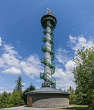 Lokout tower with a spiral staircase Royalty Free Stock Photo