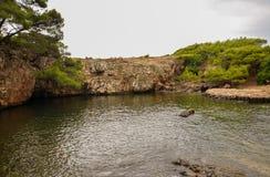 Lokrum death sea, Croatia Stock Images