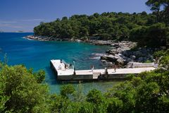 Lokrum Harbor Royalty Free Stock Photo