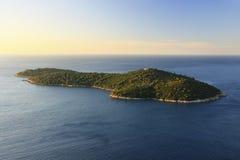 Lokrum-Insel, Dubrovnik stockbild