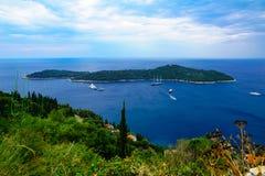 Lokrum-Insel, Dubrovnik Lizenzfreies Stockfoto