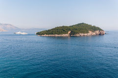 The Lokrum Island on the Adriatic Sea in Croatia Royalty Free Stock Photography