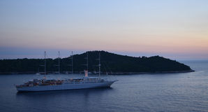 Lokrum Island at Dusk Royalty Free Stock Image