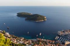 Lokrum wyspa w Chorwacja przeglądał od above Obrazy Royalty Free