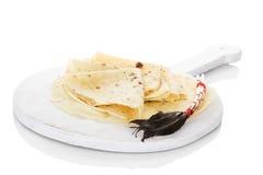 Lokse pancakes. Stock Photos