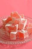 Lokum color de rosa del búlgaro fotos de archivo libres de regalías